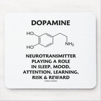 Neurotransmisor de la dopamina molécula química tapetes de raton