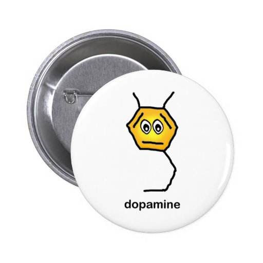 Neurotransmisor de la dopamina pin redondo 5 cm