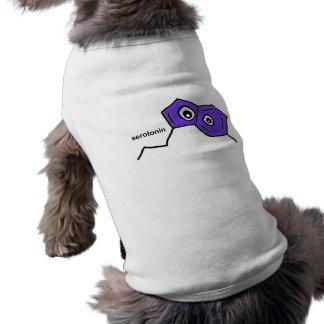 Neurotransmisor de la serotonina playera sin mangas para perro