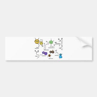 Neurotransmisores desiguales etiqueta de parachoque