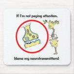 Neurotransmisores Mousepad de la culpa Tapetes De Raton