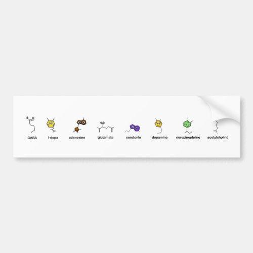 Neurotransmitter Parade Bumper Sticker