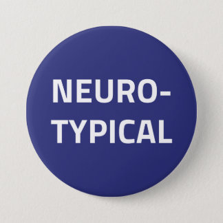 Neurotypical button (white on navy blue)