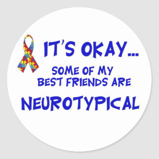 Neurotypical Friends Classic Round Sticker