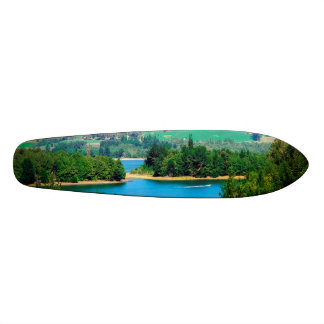 Neusa Lake and Boat, Colombia Skateboard