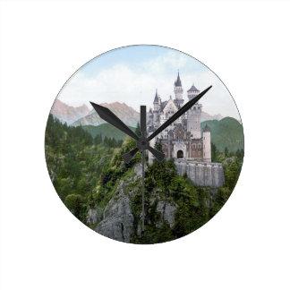 Neuschwanstein Castle 5 Round Clock