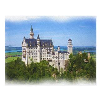 Neuschwanstein Castle Art Postcard
