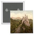 Neuschwanstein Castle, Bavaria, Germany 2 Inch Square Button