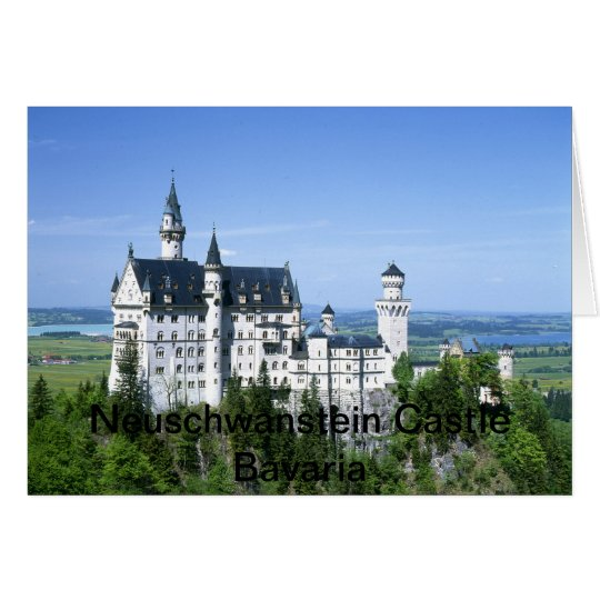 Neuschwanstein Castle Bavaria Germany Card