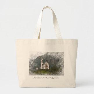 Neuschwanstein Castle Bavaria Germany Large Tote Bag