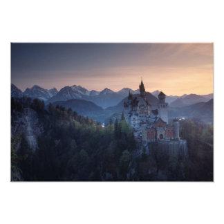 Neuschwanstein Castle, built late 1800's by Photo Print