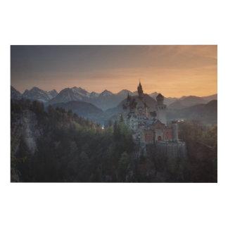 Neuschwanstein Castle, built late 1800's by Wood Print