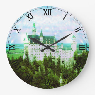 Neuschwanstein Castle - Fairy Dust Photo Edit Large Clock