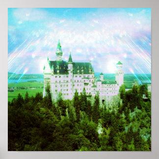 Neuschwanstein Castle - Fairy Dust Photo Edit Poster
