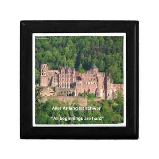 Neuschwanstein Castle Frankfurt & German Quote Keepsake Box