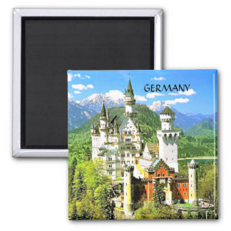 NEUSCHWANSTEIN CASTLE, GERMANY 2 INCH SQUARE MAGNET