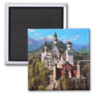 neuschwanstein castle - germany 2 inch square magnet