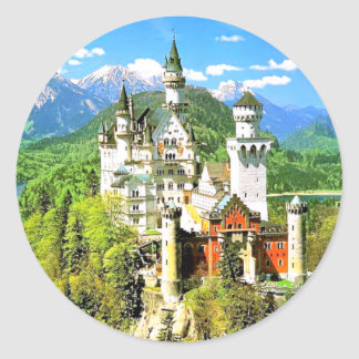 NEUSCHWANSTEIN CASTLE, GERMANY CLASSIC ROUND STICKER