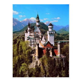 neuschwanstein castle - germany postcard