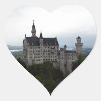 Neuschwanstein Castle Heart Sticker
