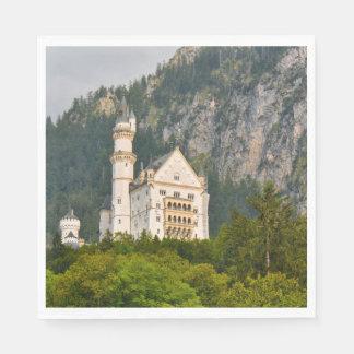 Neuschwanstein Castle in Bavaria Germany Paper Napkin