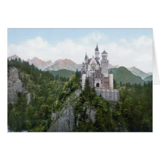 Neuschwanstein Castle Lithograph Card