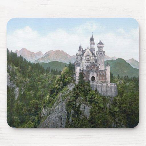 Neuschwanstein Castle Lithograph Mouse Pad