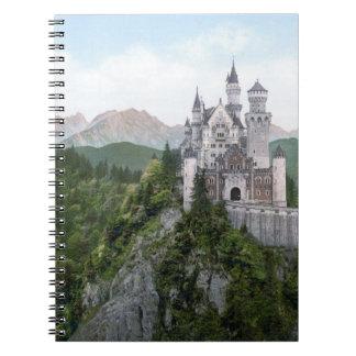 Neuschwanstein Castle Lithograph Note Books