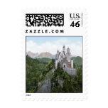 Neuschwanstein Castle Lithograph Postage Stamp
