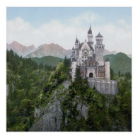 Neuschwanstein Castle Lithograph Posters