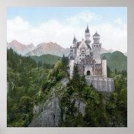 Neuschwanstein Castle Lithograph Posters