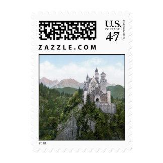 Neuschwanstein Castle Lithograph Stamp