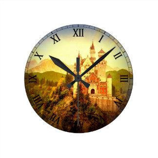 Neuschwanstein Castle Round Clock