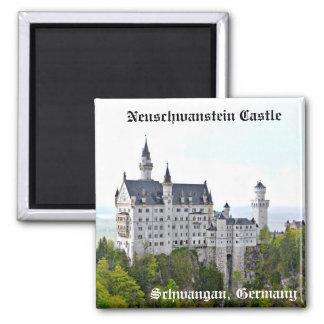 Neuschwanstein Castle – Schwangau, Germany 2 Inch Square Magnet