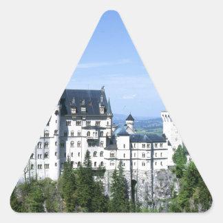 Neuschwanstein Pegatina Triangular