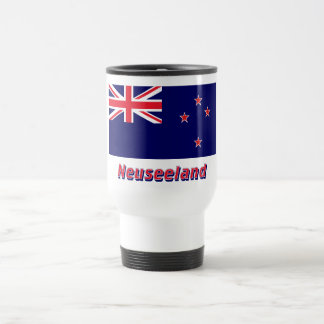 Neuseeland Flagge mit Namen 15 Oz Stainless Steel Travel Mug