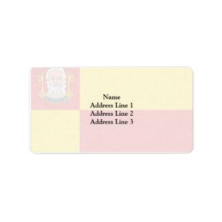 Neustadt-Glewe, Germany flag Address Label