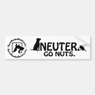 Neuter - Go Nuts. Bumper Sticker
