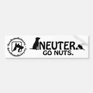 Neuter - Go Nuts. Bumper Sticker