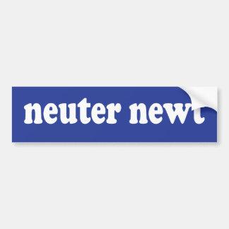 Neuter Newt Bumper Sticker