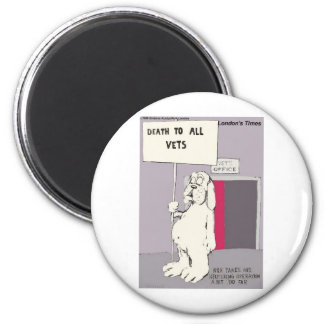Neutered Dog Fights Back Funny Gifts & Tees 2 Inch Round Magnet