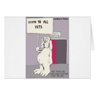 Neutered Dog Fights Back Funny Gifts & Tees Card