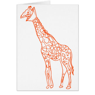Neutered Giraffe Card