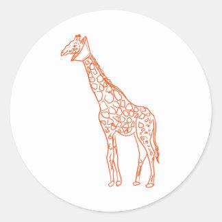 Neutered Giraffe Classic Round Sticker