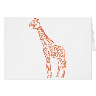Neutered Giraffe Greeting Cards