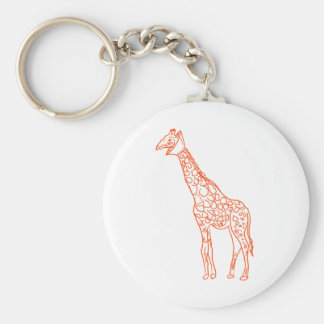 Neutered Giraffe Key Chain