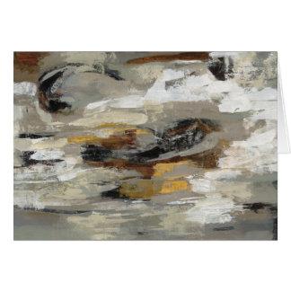 Neutral Abstract Gray Print   Silvia Vassileva Card