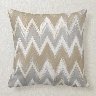 Neutral Abstract Tribal Chevron Pillow