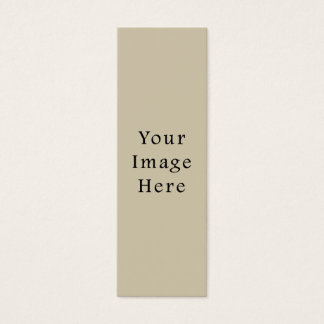 Neutral Almond Beige Color Trend Blank Template Mini Business Card