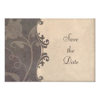 Neutral and Earth Tones Save the Date Inserts Custom Invites